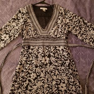 Paisley black and white blouse